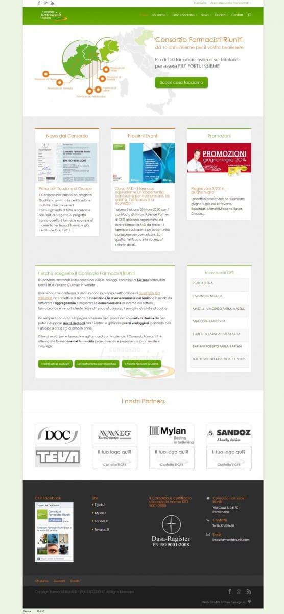 Restyling sito web consorzio farmacisti riuniti