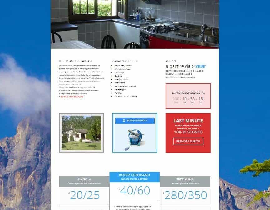 Restyling sito web bedandbreakfast sangiovanni ad insulam