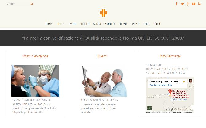 Restyling sito web Farmacia Santorini