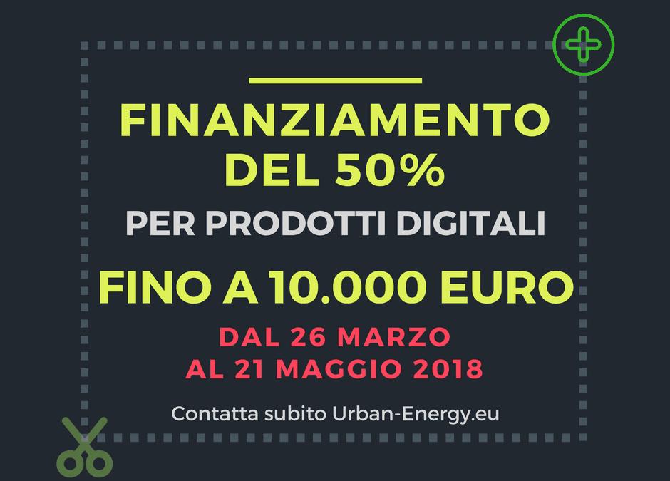 FINANZIAMENTO A FONDO PERDUTO DEL 50% FINO A 10.000€