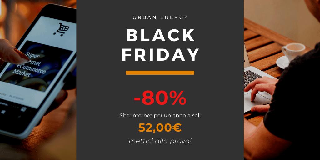 Black Friday Sito Web -80%